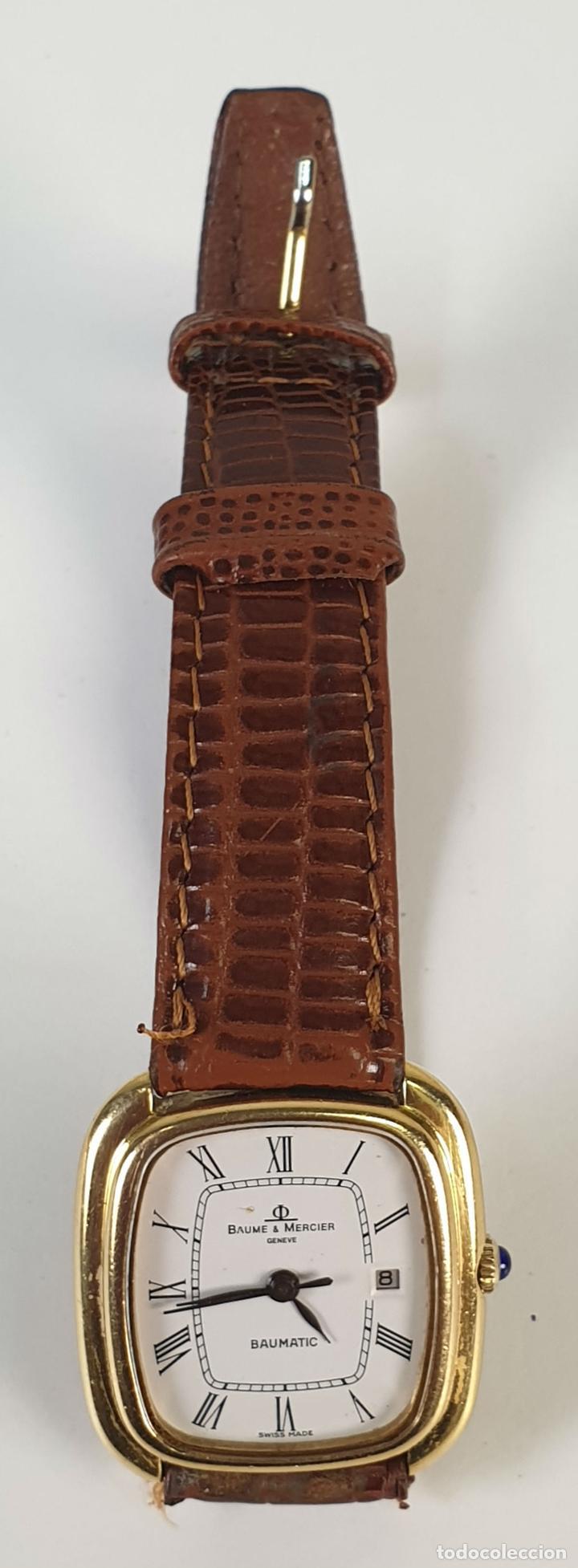 RELOJ DE PULSERA. BAUME AND MERCIER. BAUMATIC. ORO DE 18 KT. SUIZA. CIRCA 1970. (Relojes - Relojes Automáticos)
