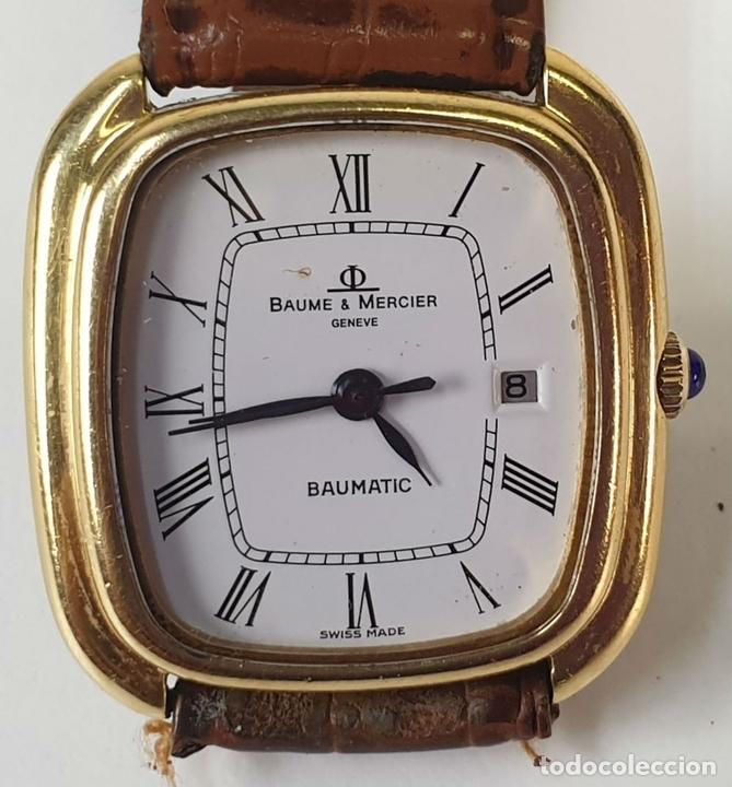 Relojes automáticos: RELOJ DE PULSERA. BAUME AND MERCIER. BAUMATIC. ORO DE 18 KT. SUIZA. CIRCA 1970. - Foto 4 - 171009010