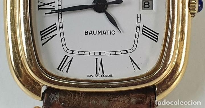 Relojes automáticos: RELOJ DE PULSERA. BAUME AND MERCIER. BAUMATIC. ORO DE 18 KT. SUIZA. CIRCA 1970. - Foto 5 - 171009010