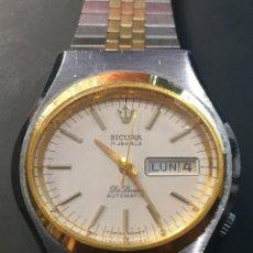 Relojes automáticos: RELOJ DE PULSERA MARCA SICURA MODELO DE LUXE AUTOMATICO DAY-DATE AÑOS 70 , FUNCIONA. Lote 171165918