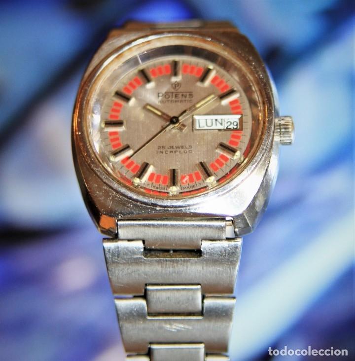 Relojes automáticos: reloj potens 25 JEWELS CRISTAL MINERAL.RELOJ AUTOMATICO ... - Foto 3 - 172383365