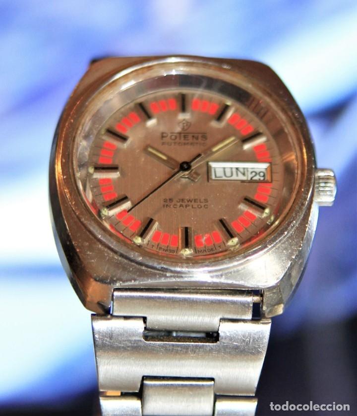 Relojes automáticos: reloj potens 25 JEWELS CRISTAL MINERAL.RELOJ AUTOMATICO ... - Foto 6 - 172383365