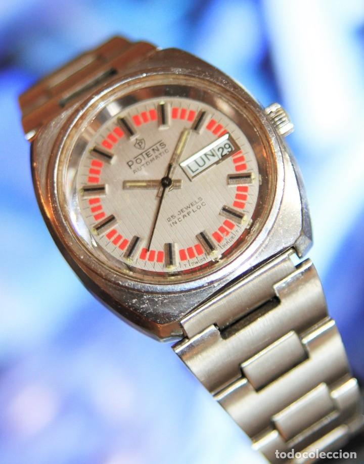 Relojes automáticos: reloj potens 25 JEWELS CRISTAL MINERAL.RELOJ AUTOMATICO ... - Foto 8 - 172383365