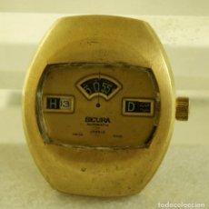 Relojes automáticos: RARO SICURA AUTOMATIC DIGITAL 35 X 42 MM JUMP HOURS CASA BREITLING. Lote 172904329