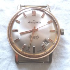 Relojes automáticos: MERCURY WATCH AUTOMÁTICO CALENDARIO 25 JEWELS INCABLOC SWISS VINTAGE. MED. 34 MM. Lote 172977605