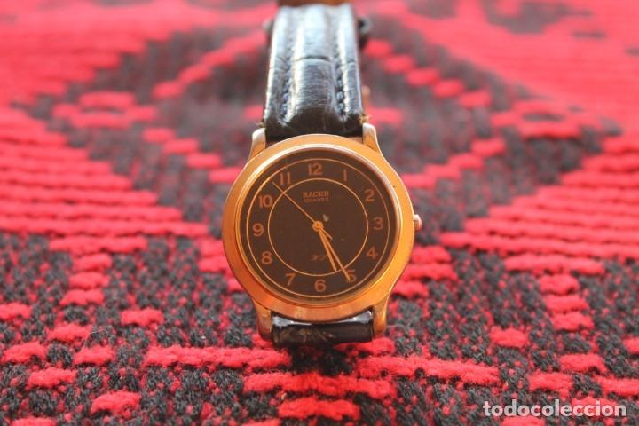 Relojes automáticos: reloj de mujer marca racer quarz con correa cuero genuina de lotus - Foto 2 - 173681423