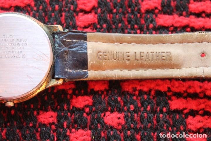 Relojes automáticos: reloj de mujer marca racer quarz con correa cuero genuina de lotus - Foto 5 - 173681423