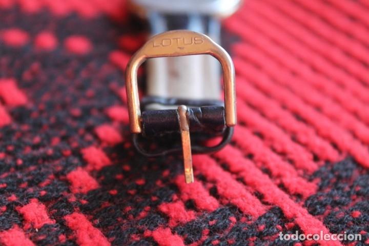 Relojes automáticos: reloj de mujer marca racer quarz con correa cuero genuina de lotus - Foto 6 - 173681423