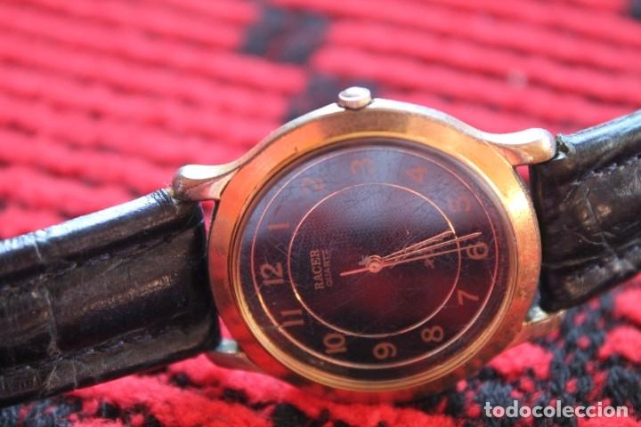 Relojes automáticos: reloj de mujer marca racer quarz con correa cuero genuina de lotus - Foto 7 - 173681423