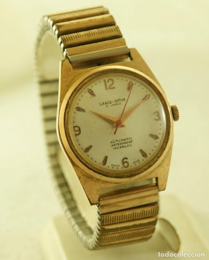 Relojes automáticos: LANCO ROTOR AUTOMATIC FUNCIONANDO CHAPADO EN ORO - Foto 2 - 174157643