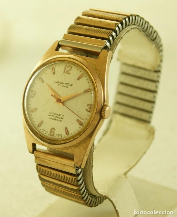 Relojes automáticos: LANCO ROTOR AUTOMATIC FUNCIONANDO CHAPADO EN ORO - Foto 4 - 174157643