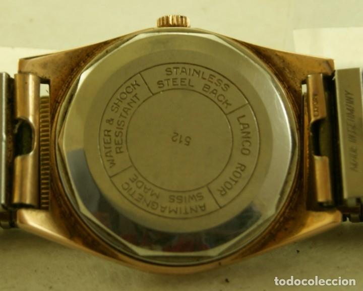 Relojes automáticos: LANCO ROTOR AUTOMATIC FUNCIONANDO CHAPADO EN ORO - Foto 5 - 174157643