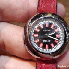 Relojes automáticos: RELOJ AUTOMÁTICO DE SEÑORA DIAMANT ANTICHOQUE CON ESFERA NEGRA. 17 RUBIS. FUNCIONANDO.. Lote 38026507
