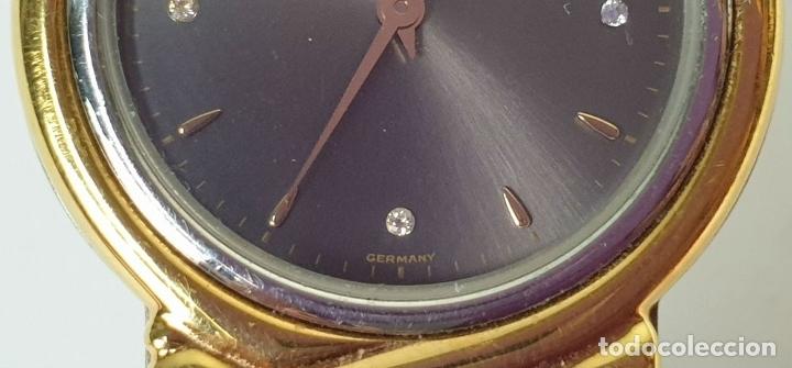 Relojes automáticos: RELOJ DE PULSERA. JUNGHANS. MODELO MEGA. CHAPADO EN ORO. 3 BRILLANTES. SIGLO XX. - Foto 5 - 175003682