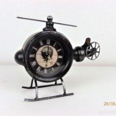 Relojes automáticos: CURIOSO RELOJ EN FORMA DE HELICOPTERO. Lote 122184759