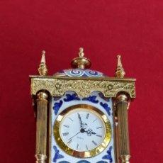 Relojes automáticos: PRECIOSO RELOJ DE SOBREMESA CON ESMALTES. Lote 175467380