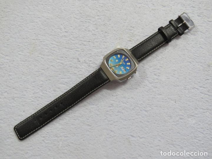 Relojes automáticos: RELOJ DE PULSERA MARCA RICOH AUTOMATICO DE 21 JOYAS, CORREA DE CUERO Y CALENDARIO, FUNCIONANDO - Foto 3 - 175486818