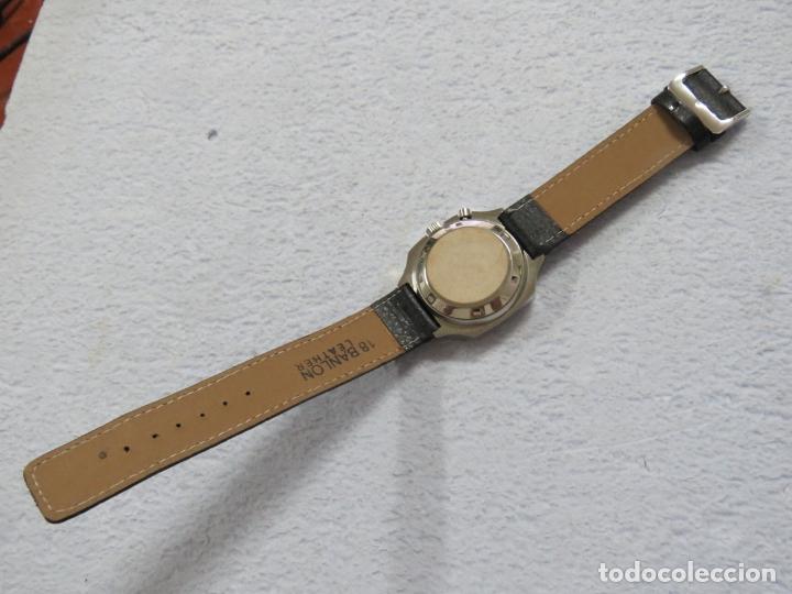Relojes automáticos: RELOJ DE PULSERA MARCA RICOH AUTOMATICO DE 21 JOYAS, CORREA DE CUERO Y CALENDARIO, FUNCIONANDO - Foto 7 - 175486818