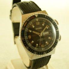 Relojes automáticos: SICURA AUTOMATICO TIPO DIVER FUNCIONANDO BLOQUEADOR BISEL GRUPO BREITLING. Lote 175820394