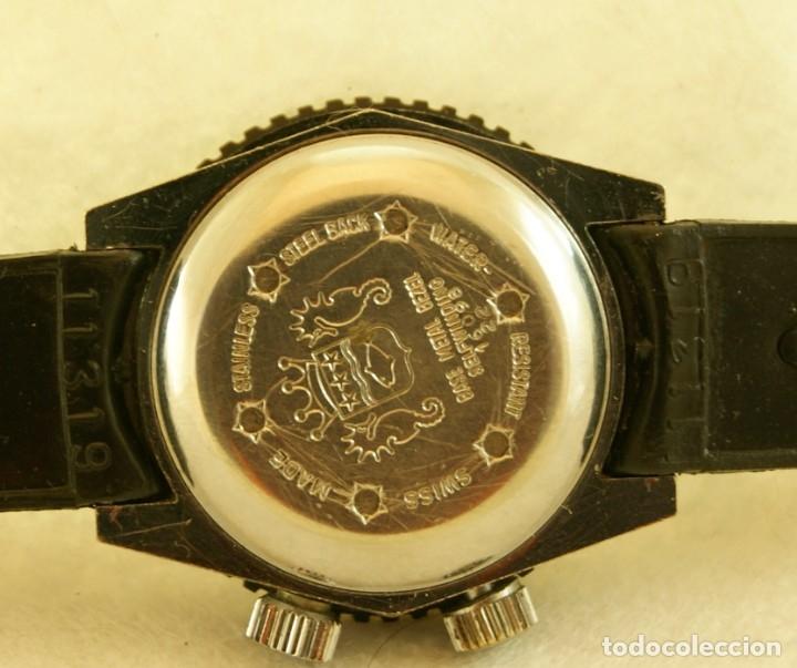 Relojes automáticos: SICURA AUTOMATICO TIPO DIVER FUNCIONANDO BLOQUEADOR BISEL GRUPO BREITLING - Foto 4 - 175820394