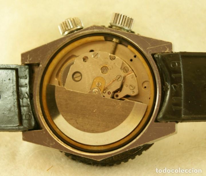 Relojes automáticos: SICURA AUTOMATICO TIPO DIVER FUNCIONANDO BLOQUEADOR BISEL GRUPO BREITLING - Foto 7 - 175820394