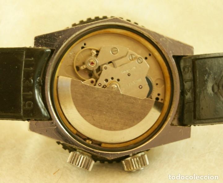 Relojes automáticos: SICURA AUTOMATICO TIPO DIVER FUNCIONANDO BLOQUEADOR BISEL GRUPO BREITLING - Foto 8 - 175820394