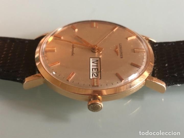 Relojes automáticos: RELOJ LONGINES DATE DAY ORO 18 KILATES - Foto 3 - 176016489
