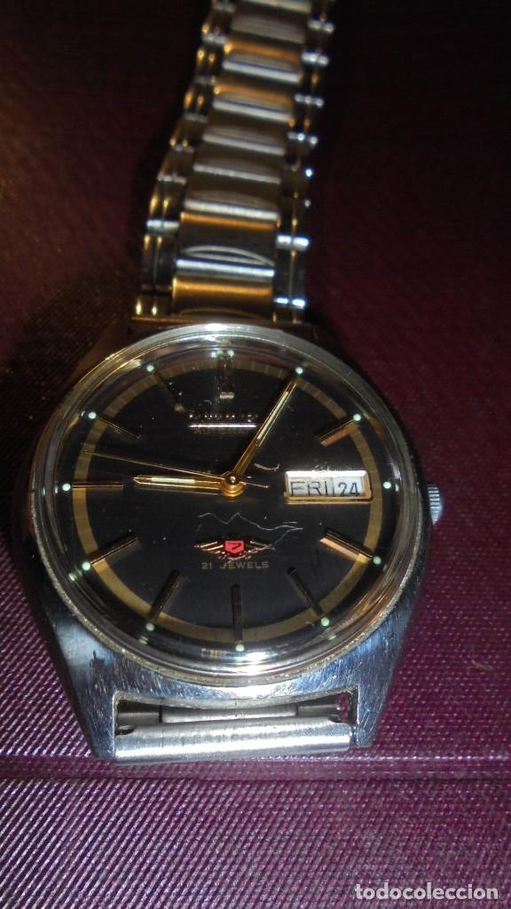 ANTIGUO RELOJ CITIZEN AUTOMATIC 21 JEWELS ESFERA NEGRA CAJA Y CORREO DE ACERO FUNCIONANDO (Relojes - Relojes Automáticos)