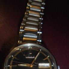Relojes automáticos: ANTIGUO RELOJ CITIZEN AUTOMATIC 21 JEWELS ESFERA NEGRA CAJA Y CORREO DE ACERO FUNCIONANDO . Lote 176079329