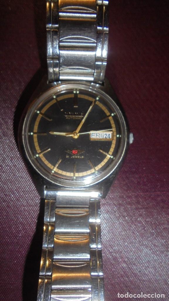 Relojes automáticos: ANTIGUO RELOJ CITIZEN AUTOMATIC 21 JEWELS ESFERA NEGRA CAJA Y CORREO DE ACERO FUNCIONANDO - Foto 2 - 176079329