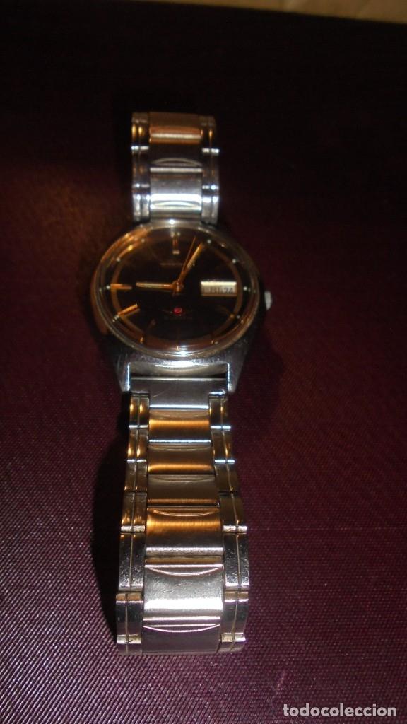 Relojes automáticos: ANTIGUO RELOJ CITIZEN AUTOMATIC 21 JEWELS ESFERA NEGRA CAJA Y CORREO DE ACERO FUNCIONANDO - Foto 4 - 176079329