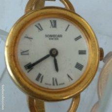 Relojes automáticos: RELOJ SOMECAR SUIZA SWISS NUEVO A ESTRENAR DORADO AÑOS 80 DE MUJER. Lote 176565040