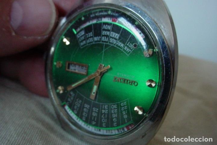 Relojes automáticos: Reloj Orient vintage Calendadario perpetuo Para reparar - Foto 3 - 176670382
