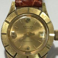 Relojes automáticos: RELOJ SARCAR GENEVE AUTOMÁTICO CHAPADO ORO DE LUJO PARA COLECCIONISTAS. Lote 207012082