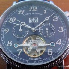 Relojes automáticos: PRECIOSO RELOJ PULSERA AUTOMATICO ALEMAN LINDBERG & GOLDMANN CON TOURBILLON Y MAQUINARIA VISTA.. Lote 177132758