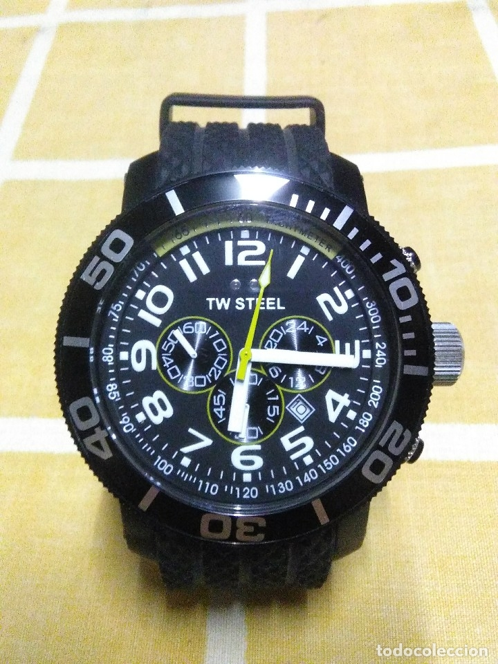 PRECIOSO RELOJ DE PULSERA TW STEEL CABALLERO GRANDE NUEVO SIN ESTRENAR CON CORREA DE CAUCHO PVP 465€ (Relojes - Relojes Automáticos)