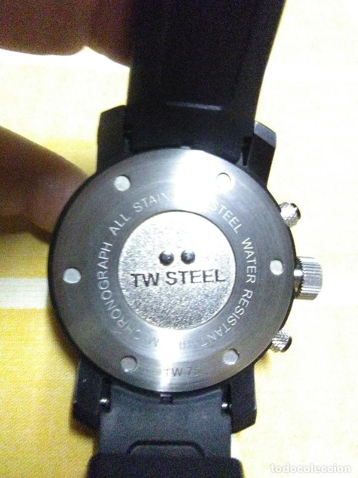 Relojes automáticos: precioso reloj de pulsera TW STEEL caballero grande nuevo sin estrenar con correa de caucho pvp 465€ - Foto 4 - 177197099
