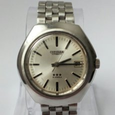 Relojes automáticos: RELOJ AUTOMATICO CITIZEN 3 ESTRELLAS FUNCIONANDO. Lote 177410257