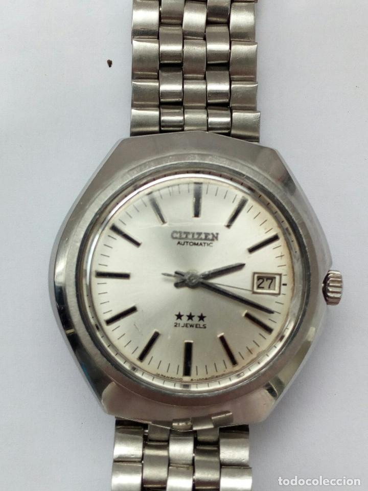 Relojes automáticos: RELOJ AUTOMATICO CITIZEN 3 ESTRELLAS FUNCIONANDO - Foto 2 - 177410257