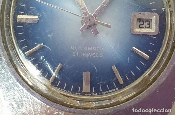 Relojes automáticos: PAREJA DE RELOJES DE PULSERA. AUTOMÁTICOS. SUIZA Y JAPÓN. VARIAS MARCAS. AÑOS 70. - Foto 4 - 177557842