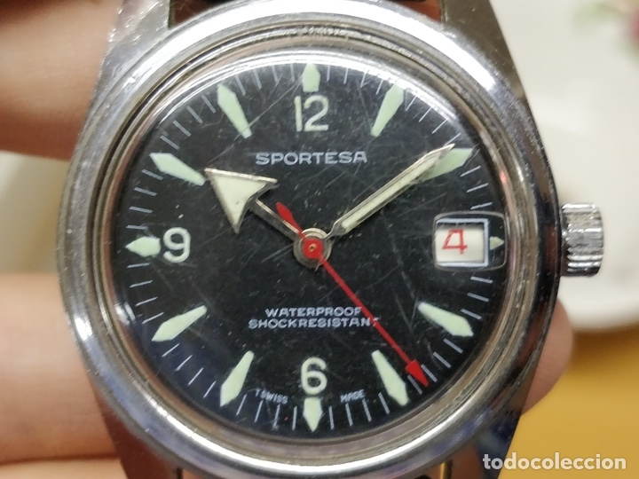 Relojes automáticos: RELOJ DE PULSERA CABALLERO SPORTESA WATERPROOF SHOCK RESISTENT FUNCIONANDO. - Foto 2 - 89344680
