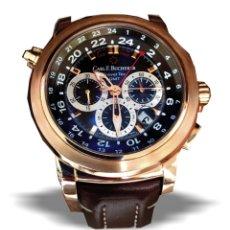 Relojes automáticos: RELOJ CARL BUCHERER PATRAVI GMT ORO. Lote 177948758