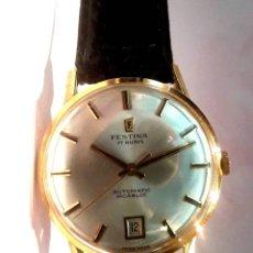 Relojes automáticos: RELOJ FESTINA AÑOS 60 EN ORO DE LEY Y AUTOMÁTICO NUEVO N.O.S. (NEW OLD STOCK). Lote 178268045