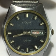 Relojes automáticos: RELOJ LUXOR AUTOMÁTICO EN ACERO COMPLETO MAQUINA SWISS ETA 2780. Lote 178883086