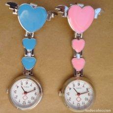 Relojes automáticos: RELOJ TIPO ENFERMERA PARA LLEVAR PRENDIDO EN EL PECHO ELIJE EL QUE MAS TE GUSTE O LOS 2. Lote 179020532