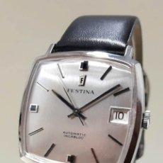 Relojes automáticos: ELEGANTE RELOJ VINTAGE FESTINA AÑOS 70 DE ACERO AUTOMÁTICO CALIBRE AS 1862 Y NUEVO. Lote 179186578