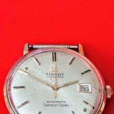 Relojes automáticos: RELOJ TISSOT VISODATE AUTOMATICO SEASTAR SEVEN CALENDARIO NO FUNCIONA CHAPADO 20MICRAS ORO. Lote 180017725