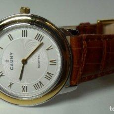 Relojes automáticos: RELOJ SUIZO DE PULSERA CAUNY UNISEX DE CUARZO 3 ATM. Lote 180280303