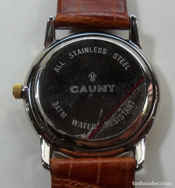 Relojes automáticos: Reloj suizo de pulsera CAUNY unisex de cuarzo 3 ATM - Foto 8 - 180280303