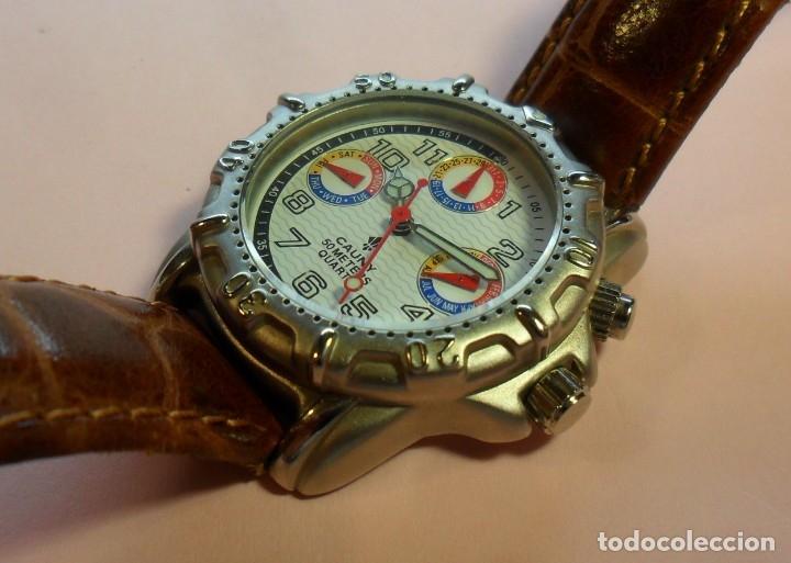 Relojes automáticos: Reloj de pulsera CAUNY 50 METERS QUARTZ para señora ** Con su estuche - Foto 2 - 180282945
